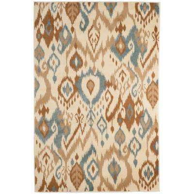 Ikat Cream 5 ft. x 7 ft. 7 in. Area Rug