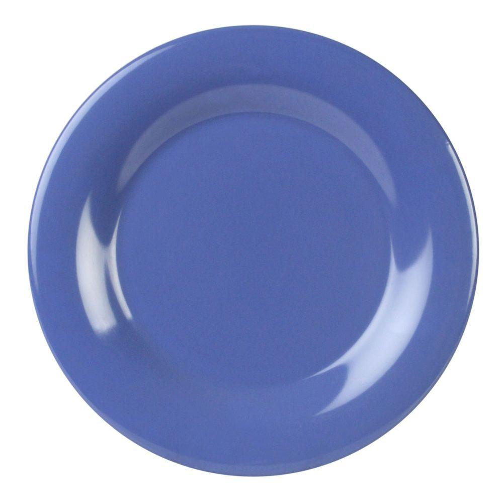 Coleur 10-1/2 in. Wide Rim Plate in Purple (12-Piece)