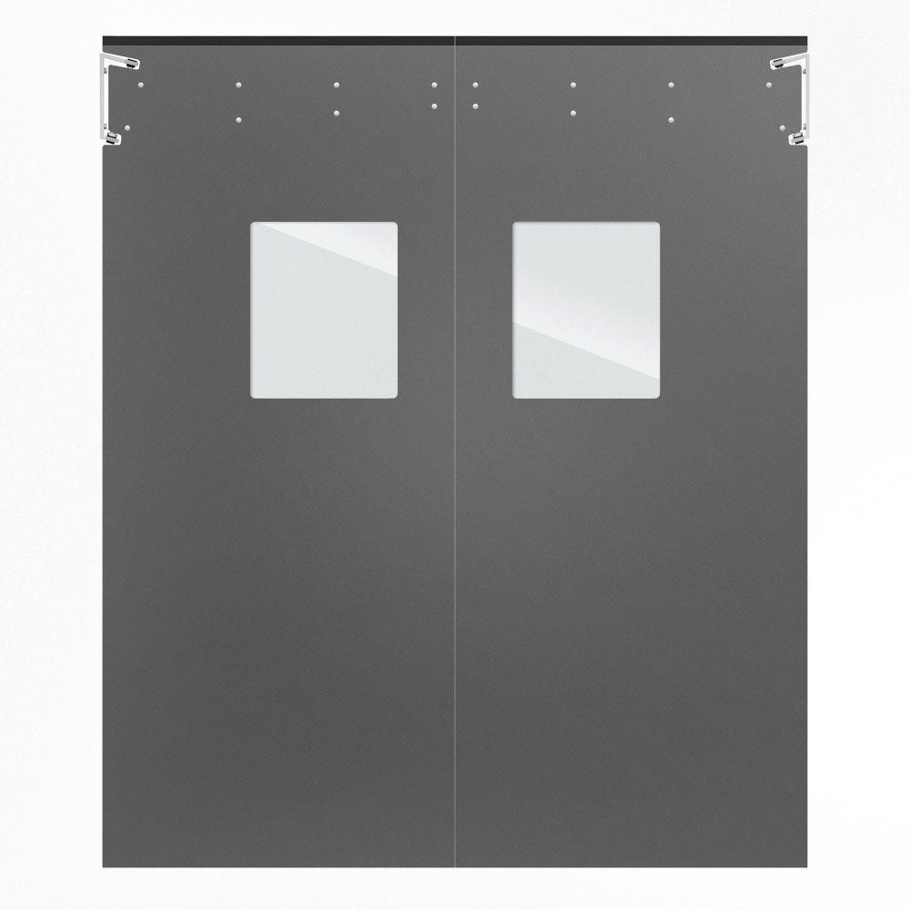 Optima 1/4 in. x 72 in. x 84 in. Single-Ply Light Gray Impact Door