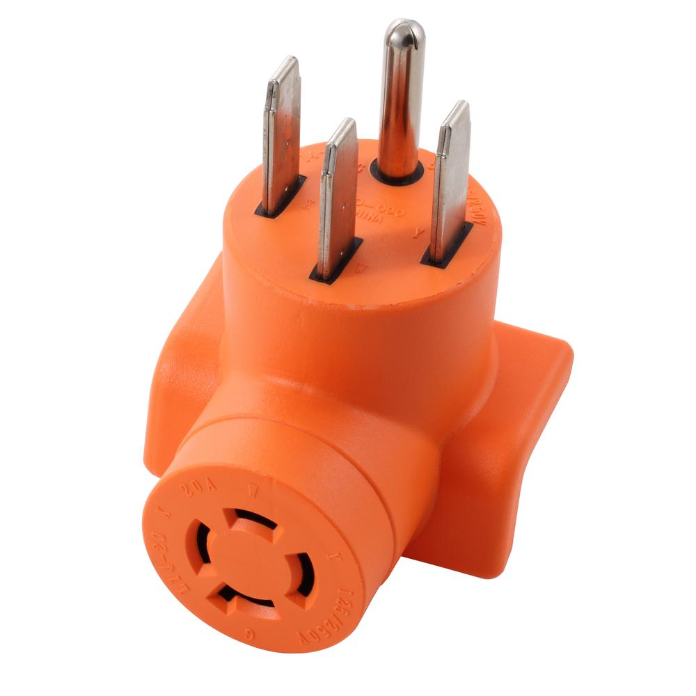Range/ RV/ Generator Outlet Adapter 4-Prong 14-50P Plug to 4-Prong 20