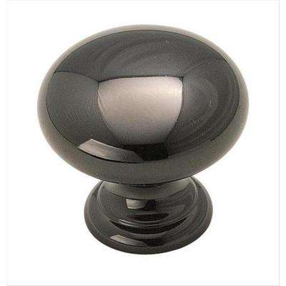 Brass Classics 1-1/4 in (32 mm) Diameter Black Nickel Cabinet Knob