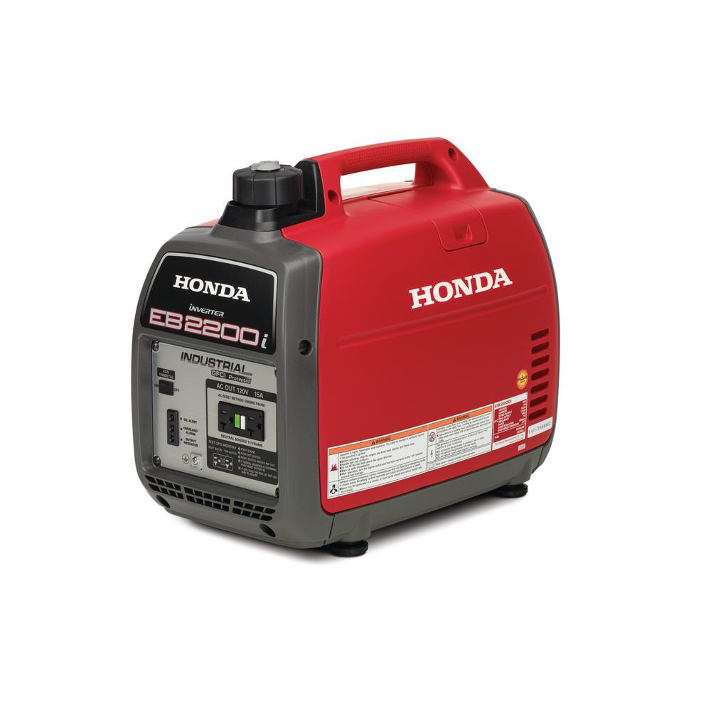 Honda Super Quiet 2,200 Starting Watt Gasoline Powered Industrial Portable Inverter Generator with GFCI Protection