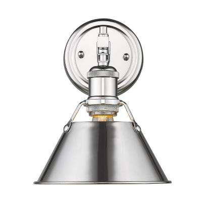 Orwell 1-Light Chrome with Chrome Shade Bath Vanity Light
