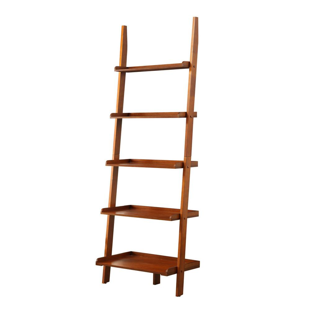 ConvenienceConcepts Convenience Concepts American Heritage Cherry Ladder Bookcase, Red