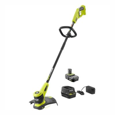 ONE+ 18-Volt Lithium-Ion Electric Cordless String Trimmer 2.0 Ah Battery and Charger Included