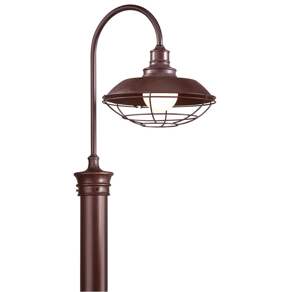 Circa 1910 Outdoor Old Rust Post Light