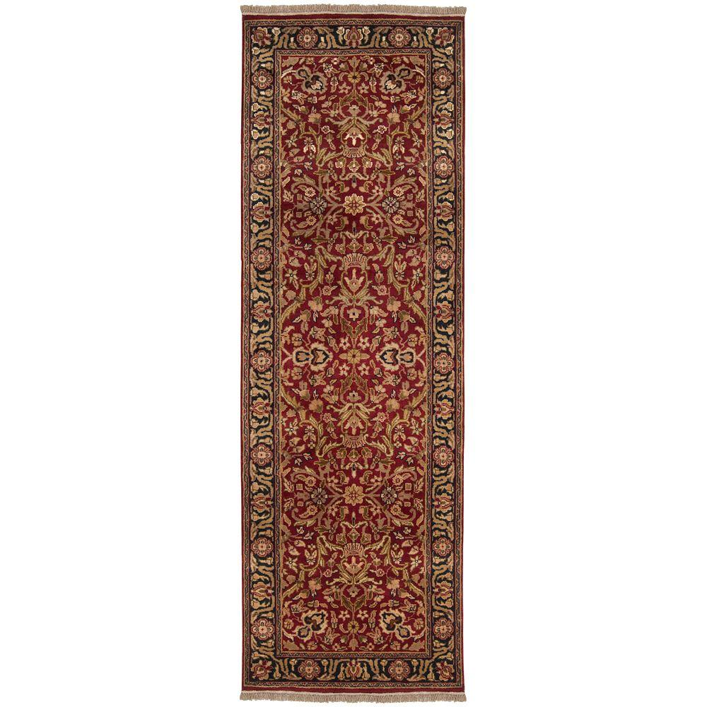 Layton Red Semi-Worsted 2 ft. 6 in. x 8 ft. Runner