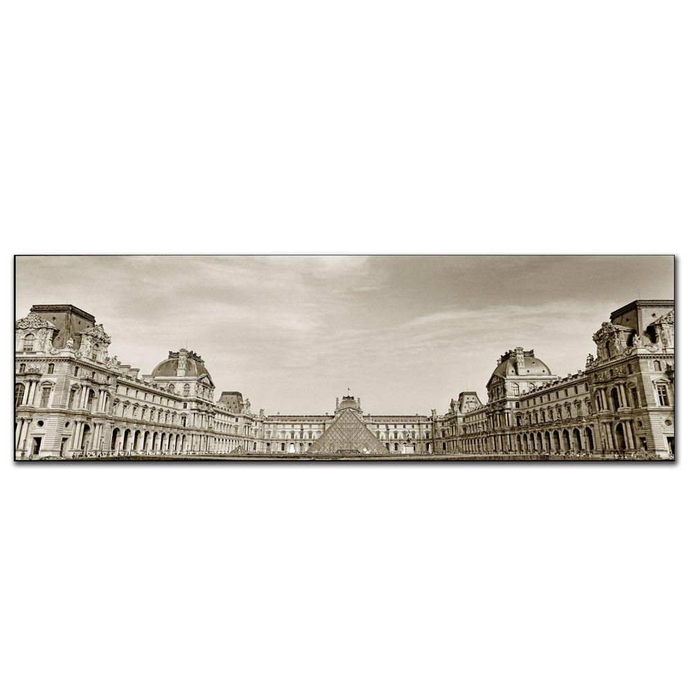 Trademark Fine Art 10 in. x 32 in. Louvre Canvas Art