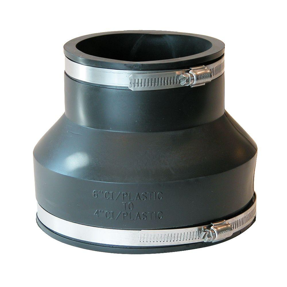 Fernco 6 in. x 4 in. Flexible PVC Coupling