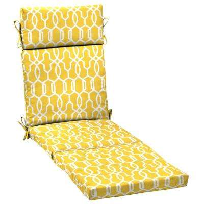 Vase Lattice Outdoor Chaise Lounge Cushion