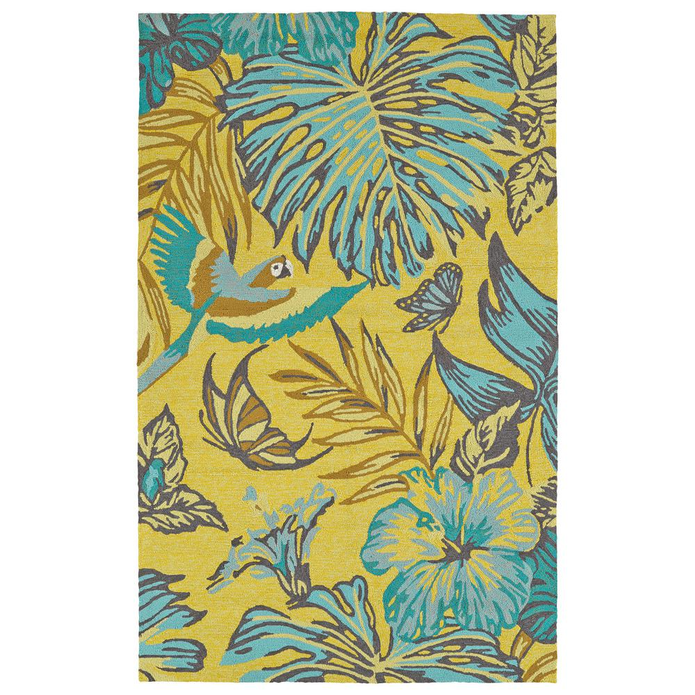 Yunque Yellow 8 ft. x 10 ft. Indoor/Outdoor Area Rug