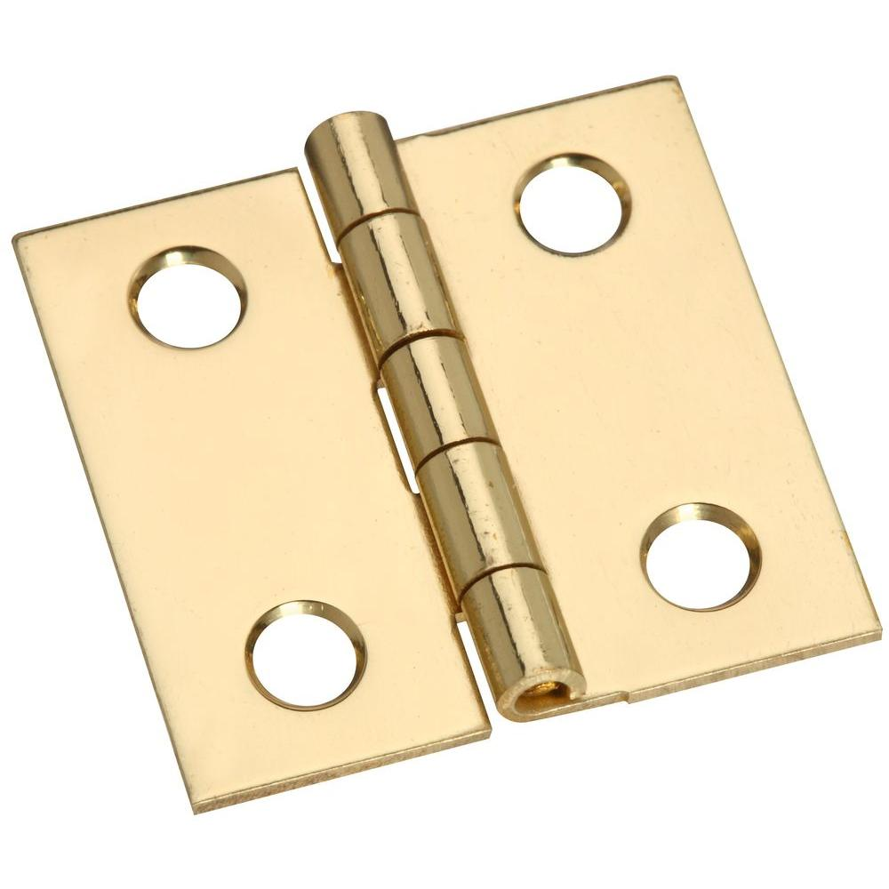 Stanley-National Hardware 1 in. Solid Brass Broad Hinge