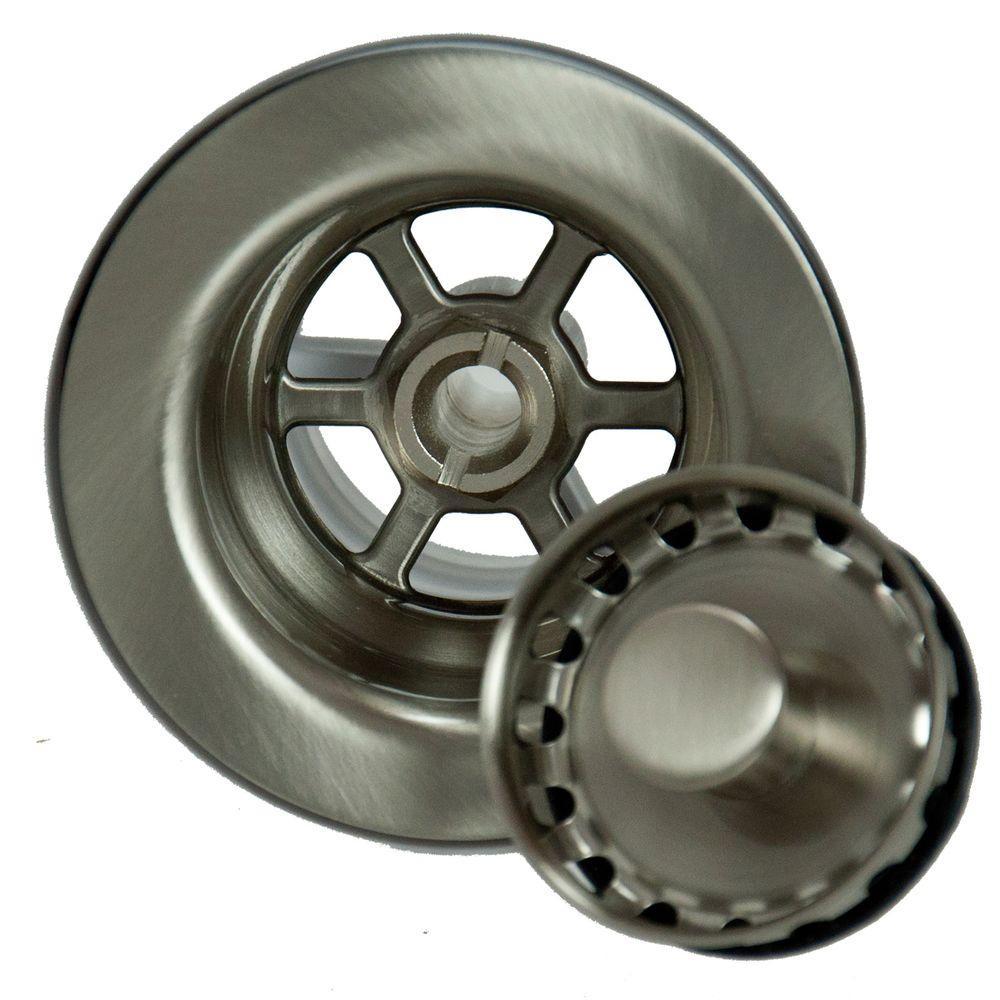 4.5 in. Bar Sink Strainer in Brushed Nickel