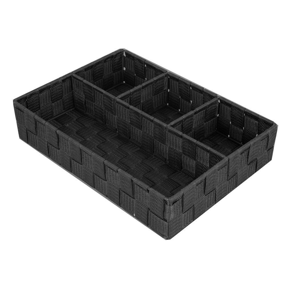 9.5 in. x 3.25 in. Black 4-Cube Organizer