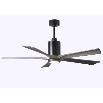 Patricia 60 in. LED Indoor/Outdoor Damp Matte Black Ceiling Fan with Remote Control and Wall Control