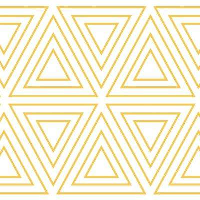 Kids Triangles Metallic Gold and White Self-Adhesive Removable Borders and Stripes