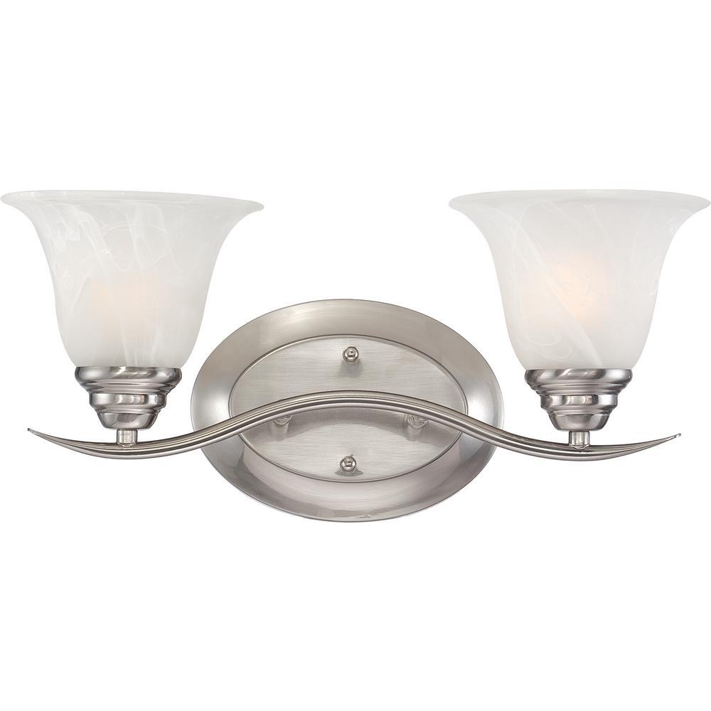 Light Fixtures Trinidad: Volume Lighting Trinidad 2-Light Indoor Brushed Nickel