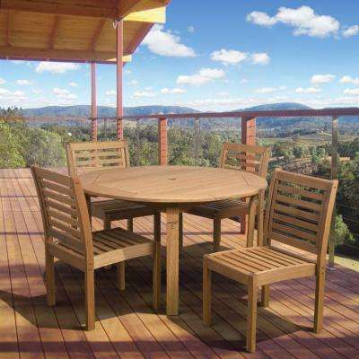 Eucalyptus 5-Piece Patio Dining Set