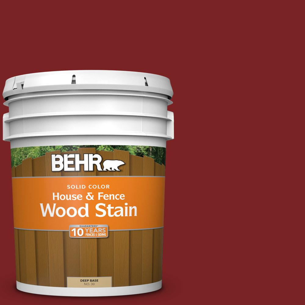 Behr 5 Gal Sc 112 Barn Red Solid Color House And Fence