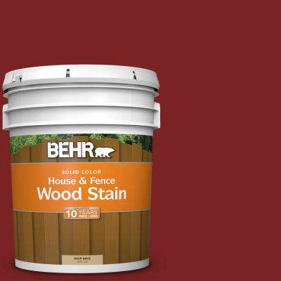 5 gal. #SC-112 Barn Red Solid House and Fence Exterior Wood Stain