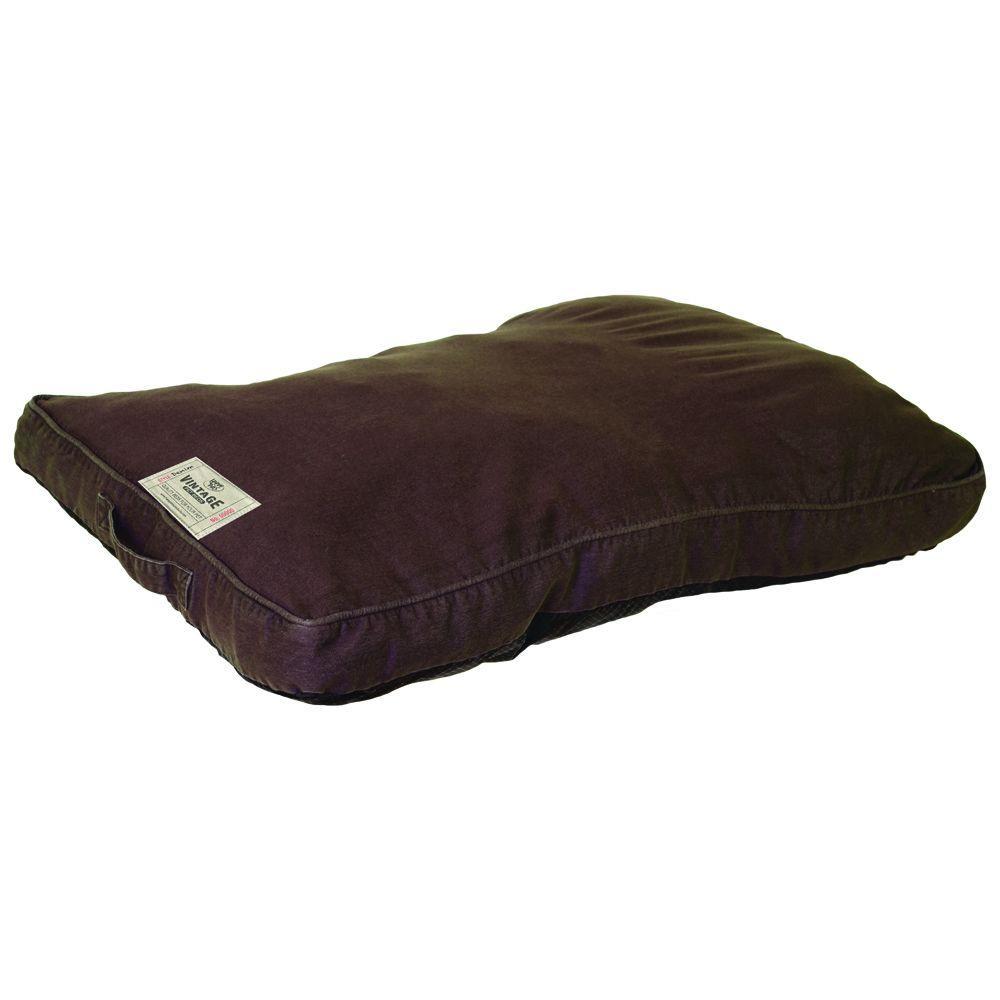 Large Brown Denim Washed Bed
