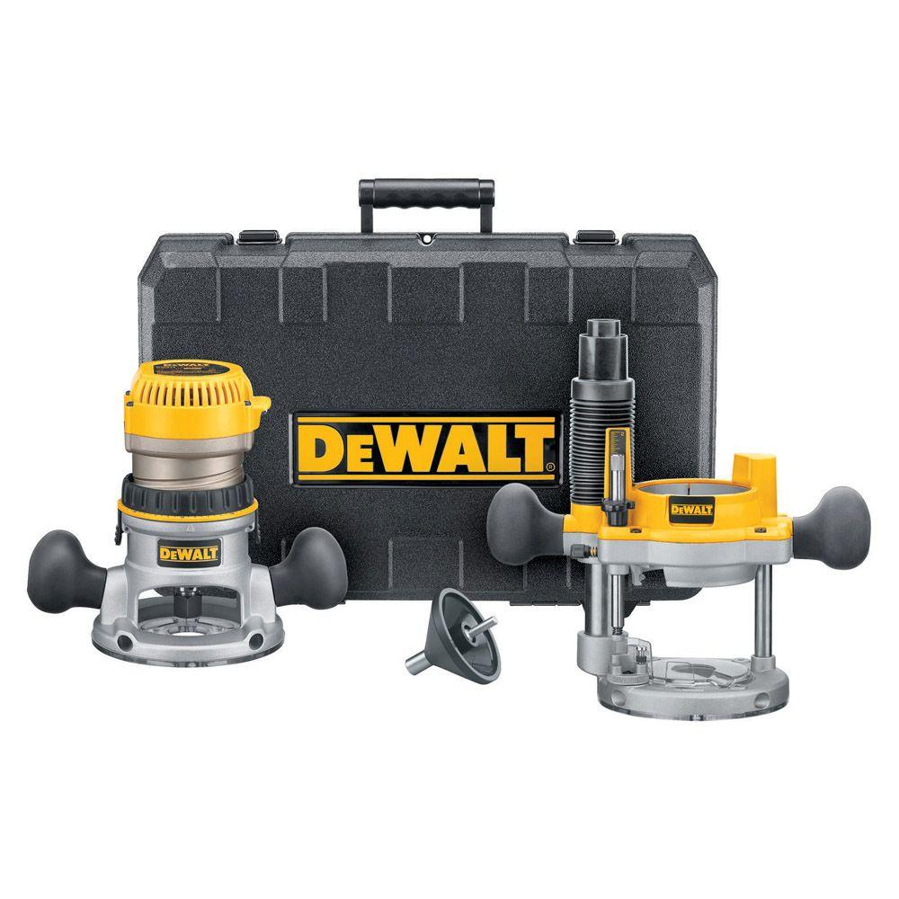 Dewalt 1 34 hp fixed base plunge router combo kit dw616pk the dewalt 1 34 hp fixed base plunge router combo kit greentooth Gallery