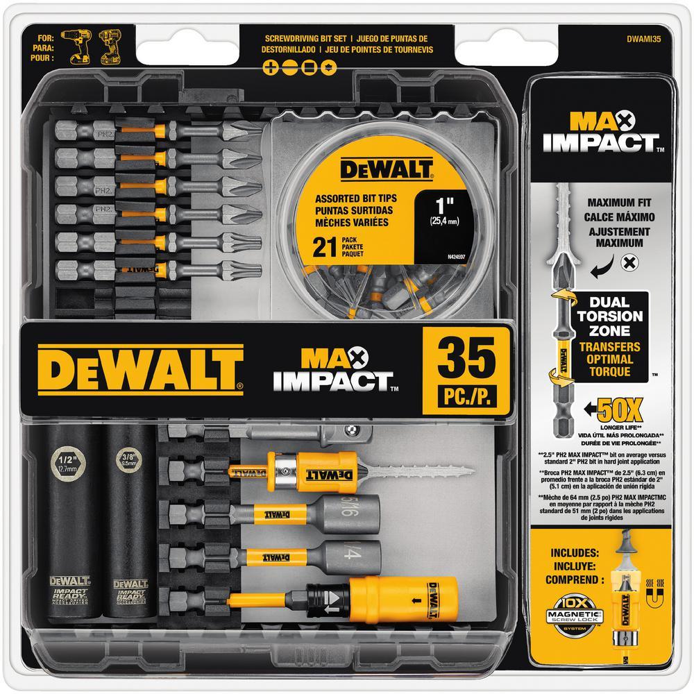 DEWALT MAX Impact Bit Set 35 Piece DWAMI35