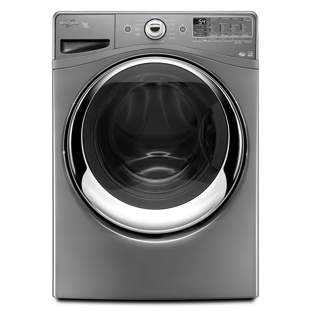 Whirlpool Duet 4.3 cu. ft. High-Efficiency Front Load Washer with Steam in Chrome Shadow, ENERGY STAR-DISCONTINUED