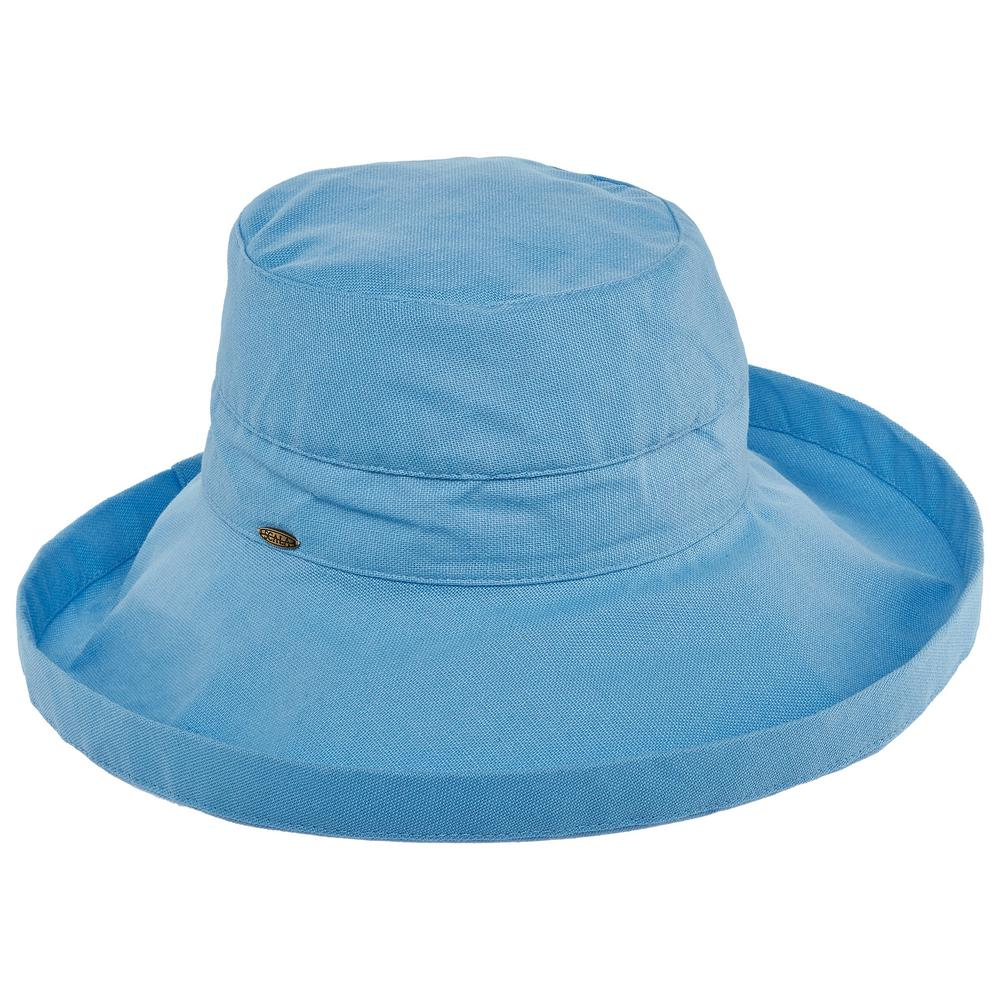 10594426 Scala Cotton Big Brim with Inner Drawstring-LC399-MBLUE - The Home Depot