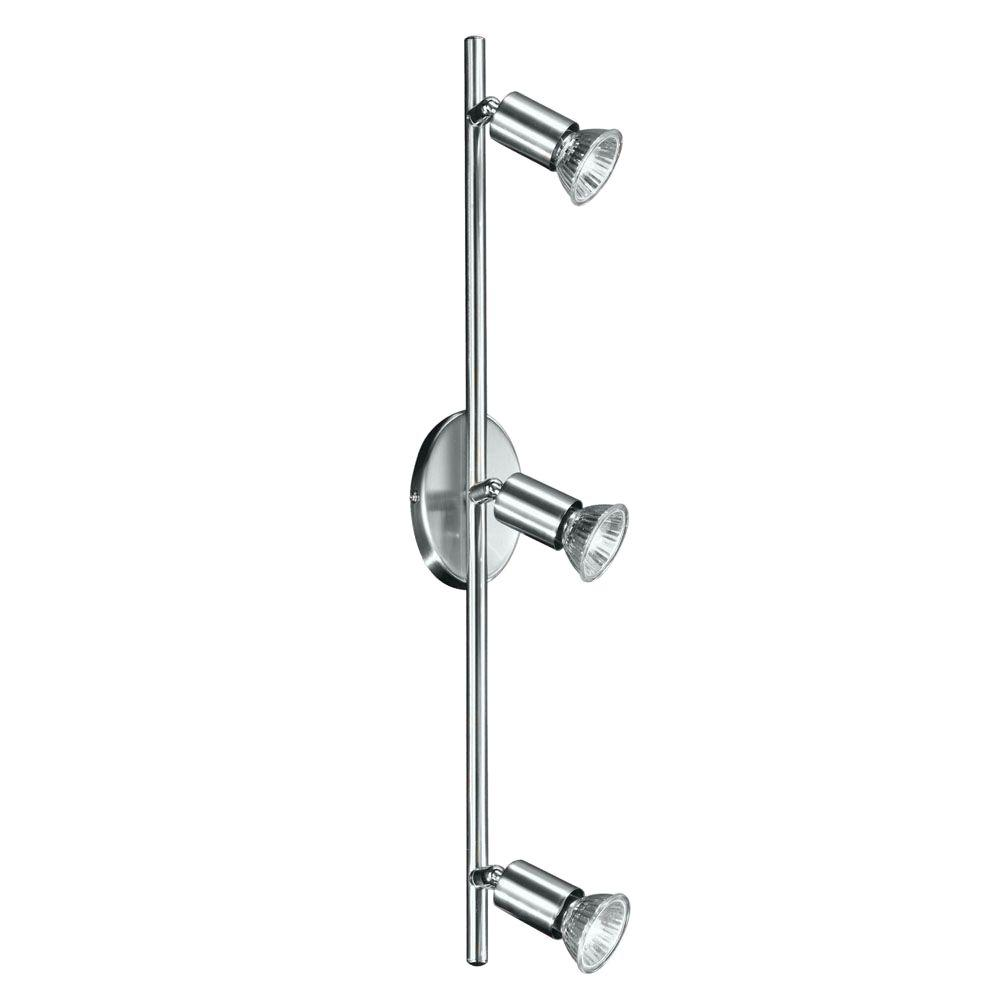 Buzz 3-Light Matte Nickel and Chrome Track Lighting Fixture