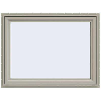47.5 in. x 35.5 in. V-4500 Series Awning Vinyl Window - Tan