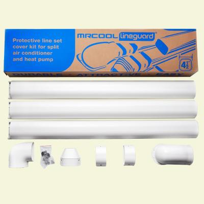 LineGuard 4.5 in. 16-Piece Complete Line Set Cover Kit for Ductless Mini-Split or Central System