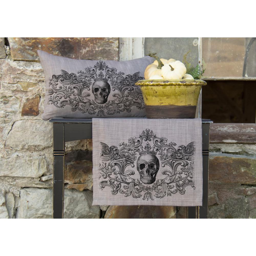 Gothic Gray Skull Decorative Pillow