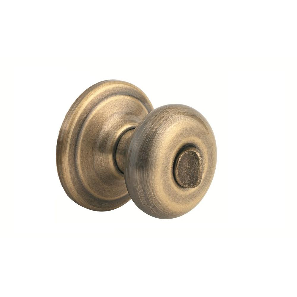 Juno Antique Brass Privacy Bed/Bath Door Knob