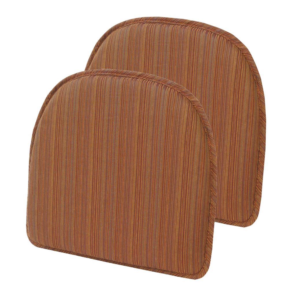 Gripper Non-Slip 15 in. x 16 in. Harmony Bittersweet Stripe Chair