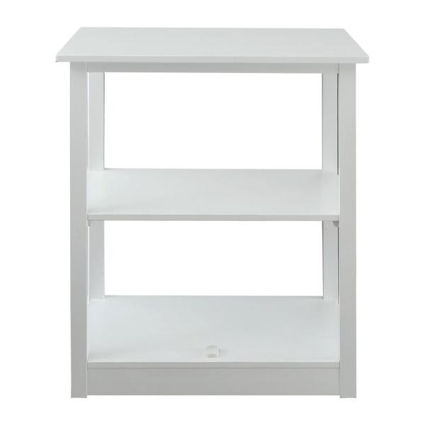 Casual Home Adams Bookcase with Concealed Sliding Track