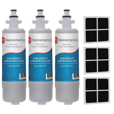 LT700P LG Comparable Refrigerator Water Filter (3-Filters) and LG LT120F Comparable Fresh Air Filter (3-Filters)