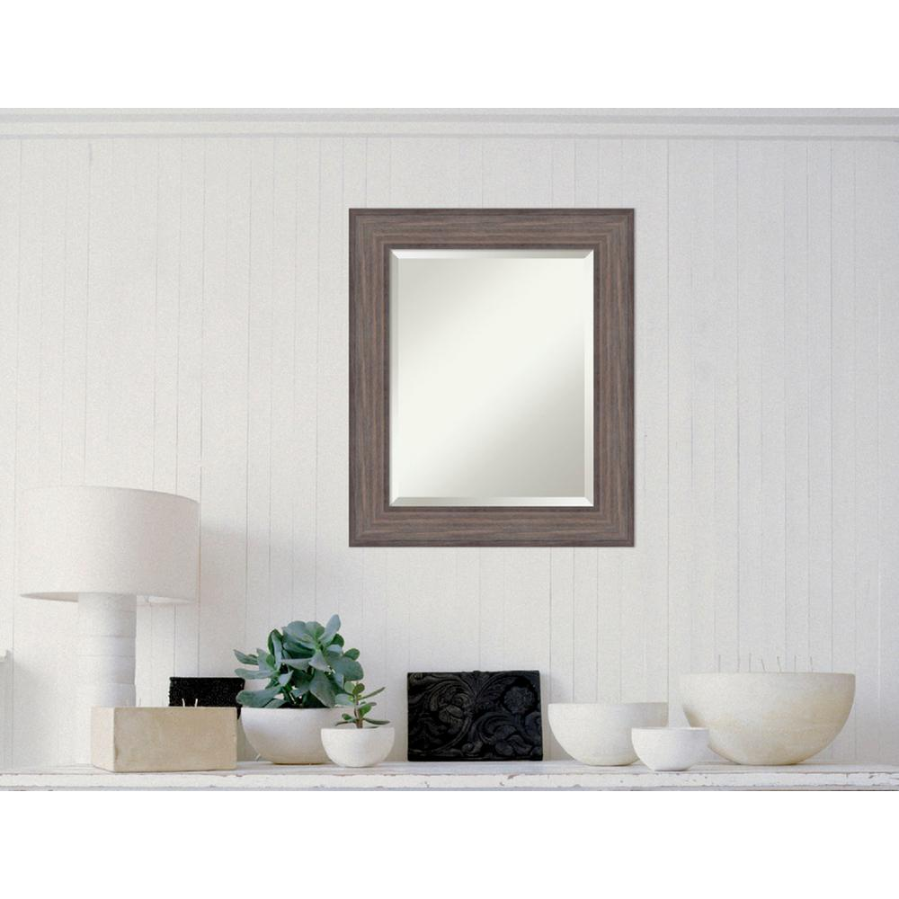 Amanti Art Country Barnwood Wood 22 in. x 26 in. Distressed Framed ...