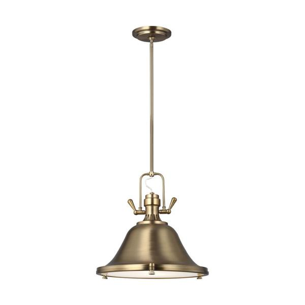 Stone Street 1-Light Satin Brass Pendant