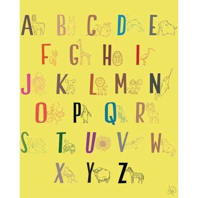 """20 in. x 24 in. """"Alphabet of Animals"""" Wrapped Canvas Wall Art Print"""