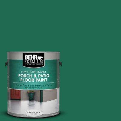 1 gal. #P430-7 Sparkling Emerald Low-Lustre Porch and Patio Floor Paint