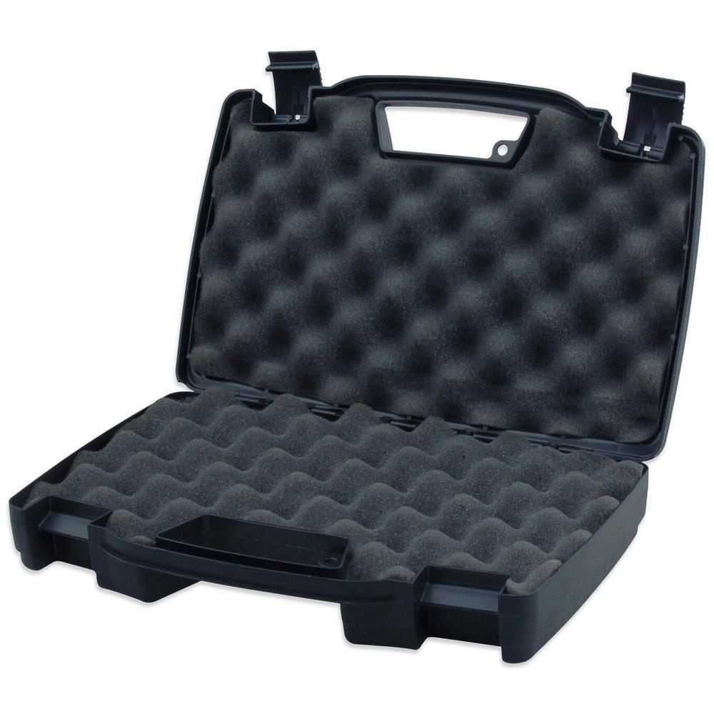 Plastic Pistol Firearm Storage Case Single Revolver