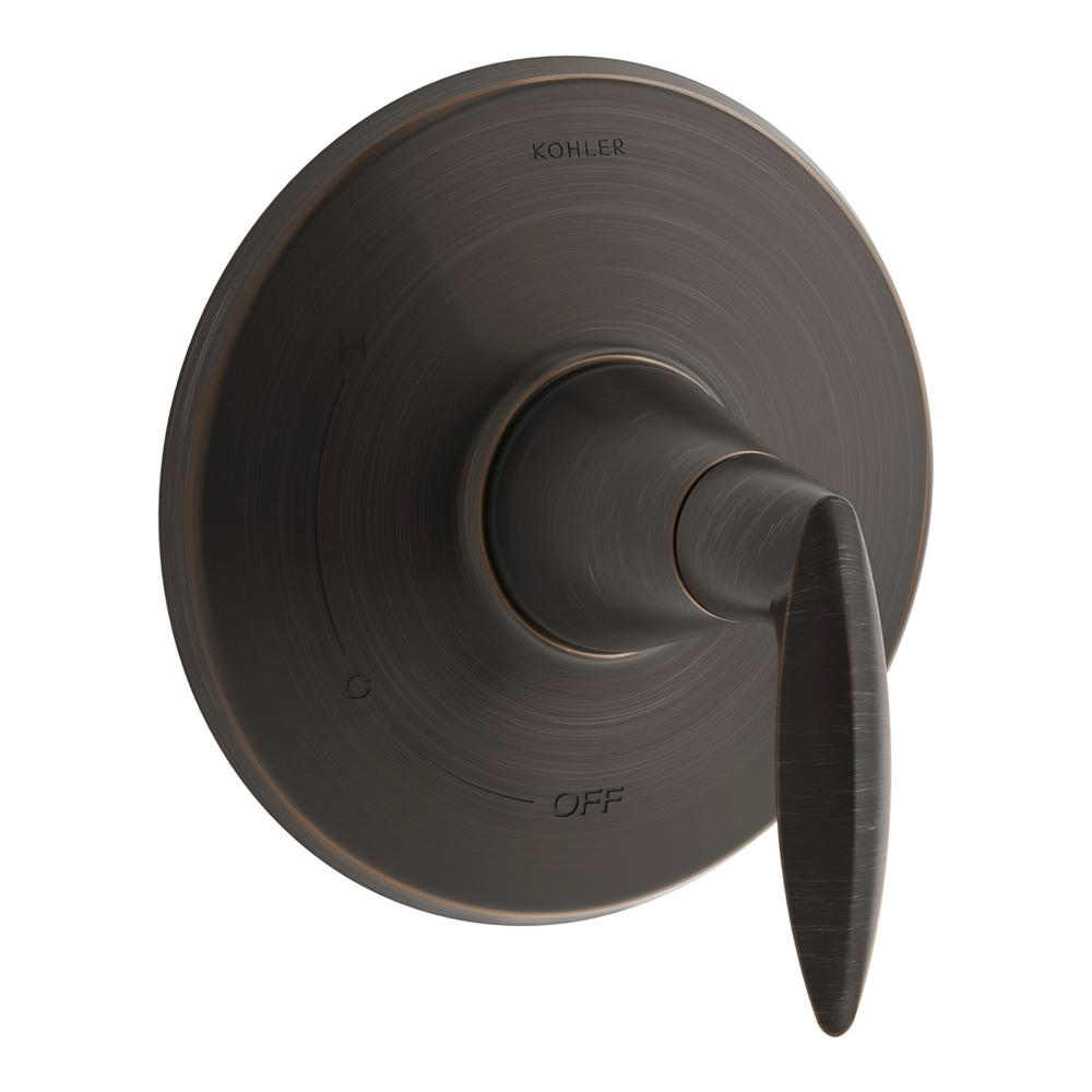KOHLER Kelston Deck-Mount Bath Faucet Trim in Oil-Rubbed Bronze-K ...