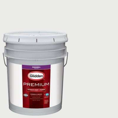 5 gal. #NHL-014H Los Angeles Kings White Eggshell Interior Paint with Primer