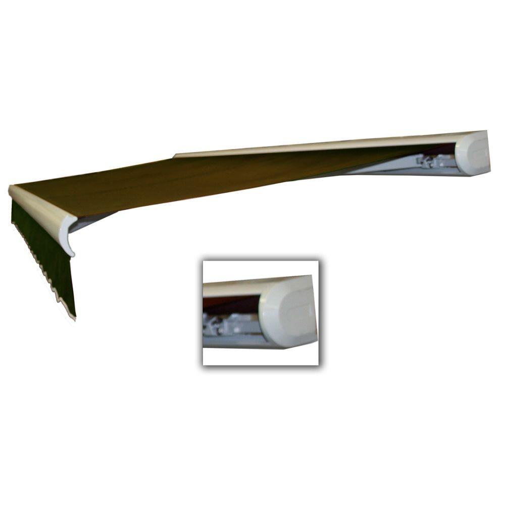 AWNTECH 20 ft. Key West Manual Retractable Acrylic Fabric Awning (120 in. Projection) in Brown