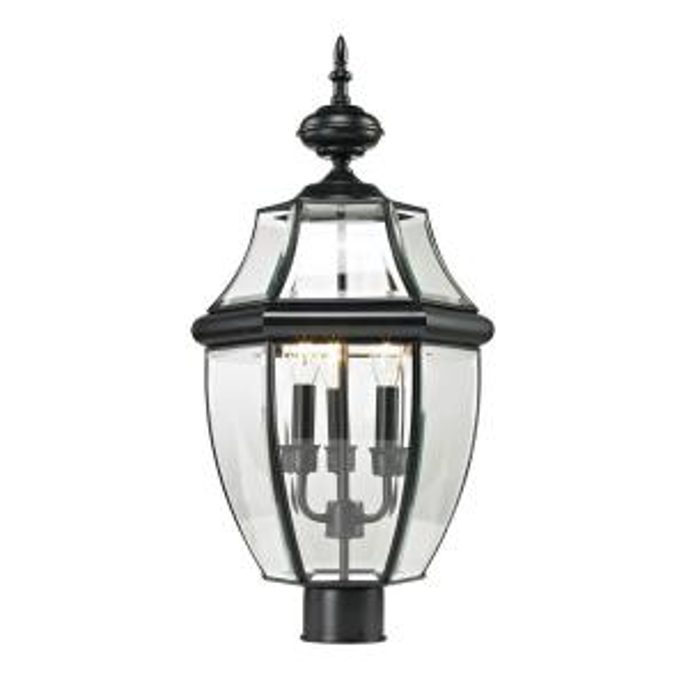 Titan Lighting Ashford 3-Light Outdoor Black Post Lantern by Titan Lighting