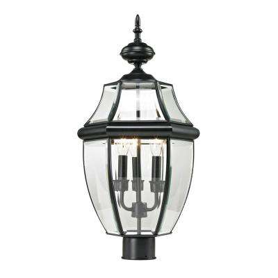 Ashford 3-Light Outdoor Black Post Lantern