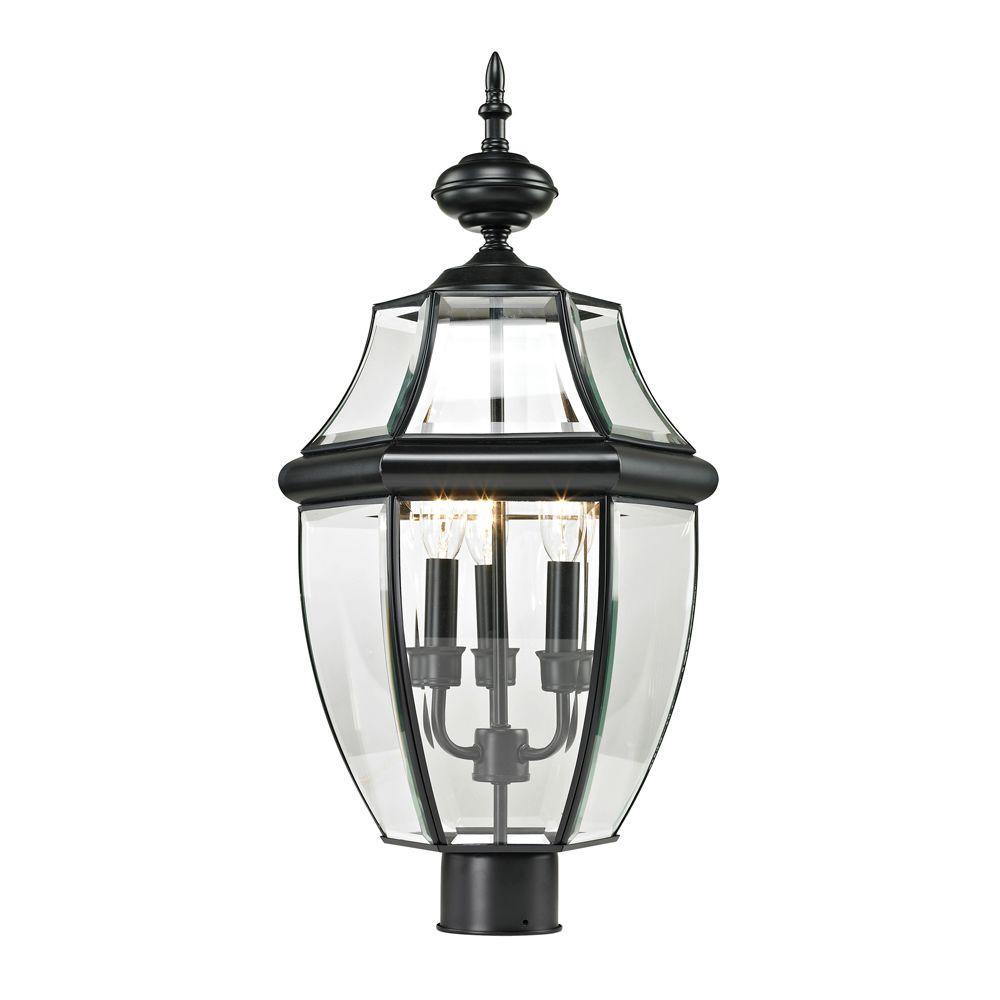 Ashford 3-Light Outdoor Black Post Lantern