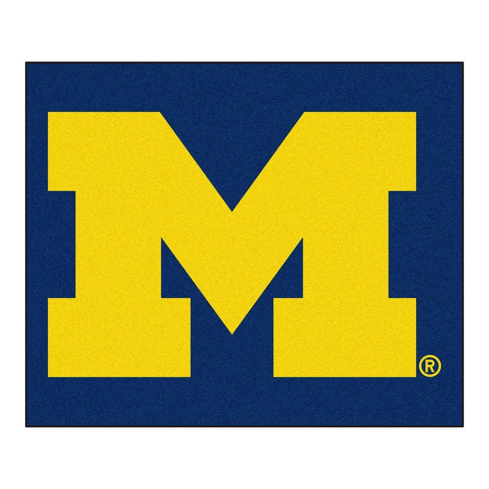 FANMATS University of Michigan 5 ft. x 6 ft. Tailgater Rug