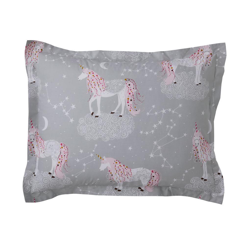 Unicorn Magic 200 Thread Count Organic Cotton Percale Standard Sham